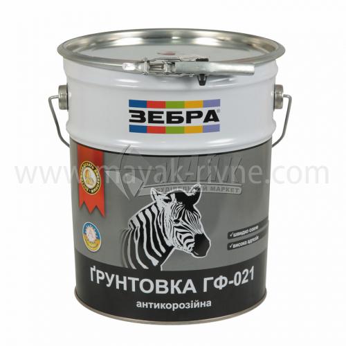 Ґрунтовка антикорозійна ZEBRA ГФ-021 12 кг 87 червоно-коричнева