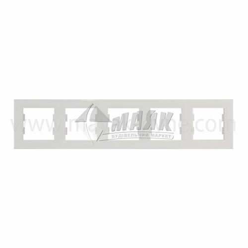 Рамка п'ятимісна горизонтальна Schneider Asfora біла