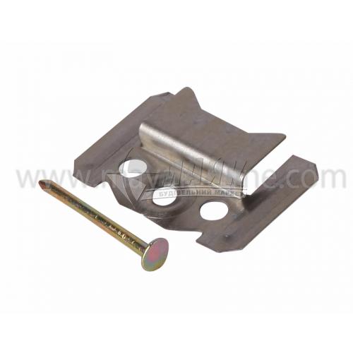 Скоба для вагонки МДФ (кляймер) 3 мм з цвяхом 100 шт