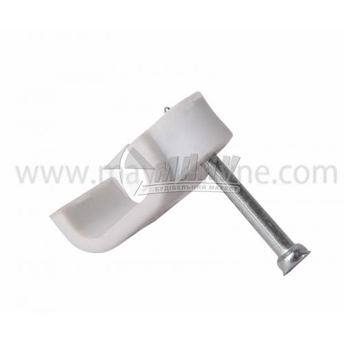 Скоба з цвяхом пряма для кабелю 7×4 мм