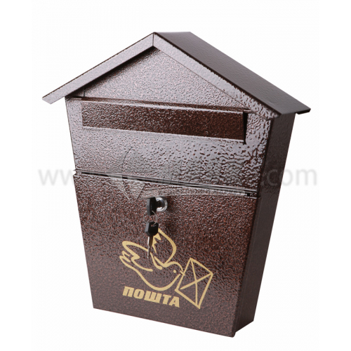 Поштова скринька №5 Хатинка 360×280×68 мм