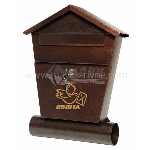 Поштова скринька №6 з трубою 360×220×70 мм