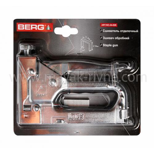 Степлер будівельний ручний BERG під скобу 4-14 мм