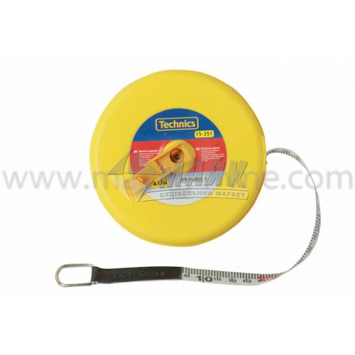 Стрічка мірна пластиковий корпус скловолокно 20 м×12 мм