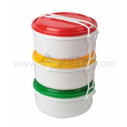 Набір харчових контейнерів 3 шт (3 шт х2 л) пластикових з кришками