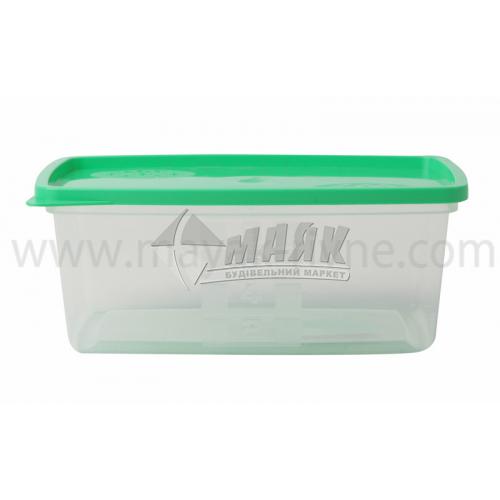 Контейнер харчовий квадратний 0,8 л пластиковий з кришкою