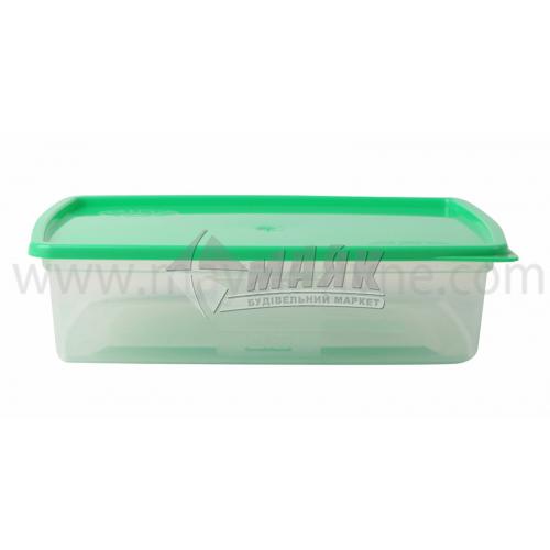 Контейнер харчовий квадратний 1,5 л пластиковий з кришкою