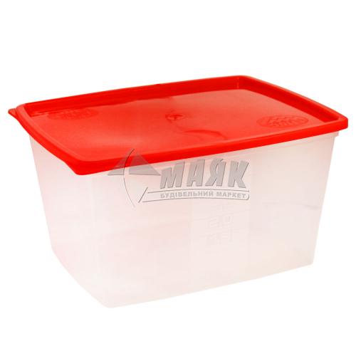 Контейнер харчовий квадратний 3,5 л пластиковий з кришкою