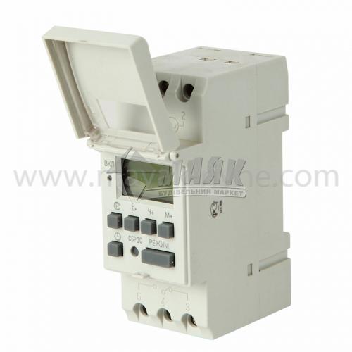 Таймер освітлення цифровий на DIN-рейку IEK ТЭ15 16А 230В