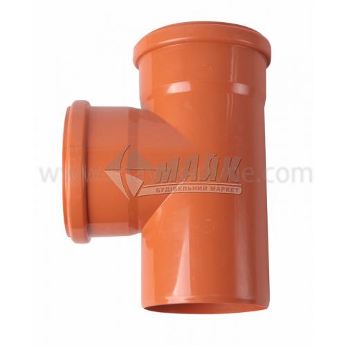 Трійник ПВХ зовнішня каналізація Інсталпласт 90° 110×110 мм