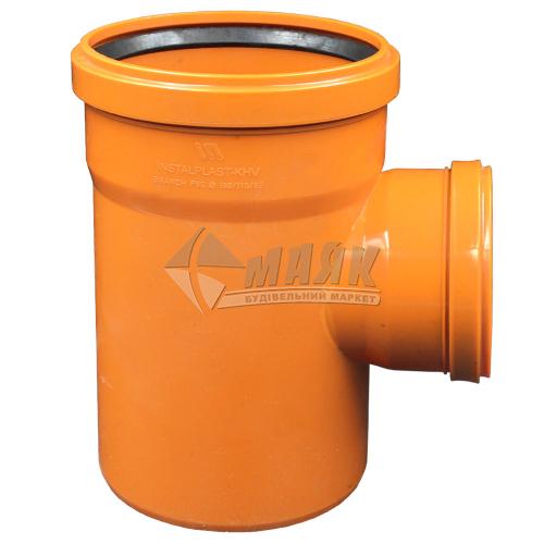 Трійник ПВХ зовнішня каналізація Інсталпласт 90° 160×110 мм