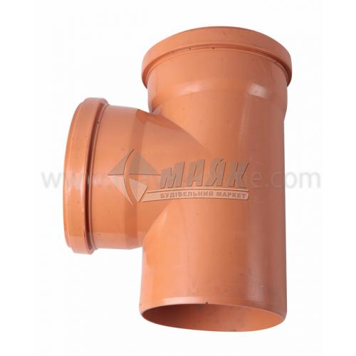 Трійник ПВХ зовнішня каналізація Інсталпласт 90° 160×160 мм