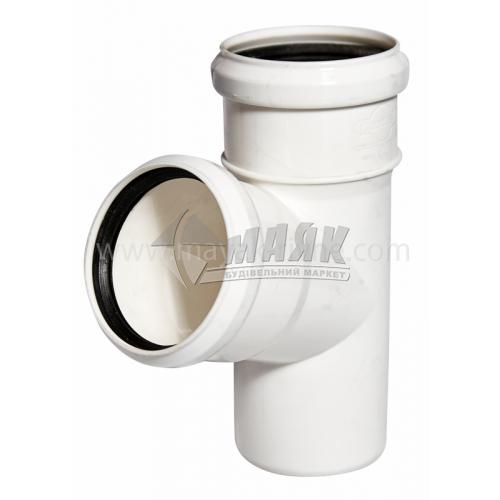 Трійник пластиковий Profil 75/75 мм 67° 90/75 білий