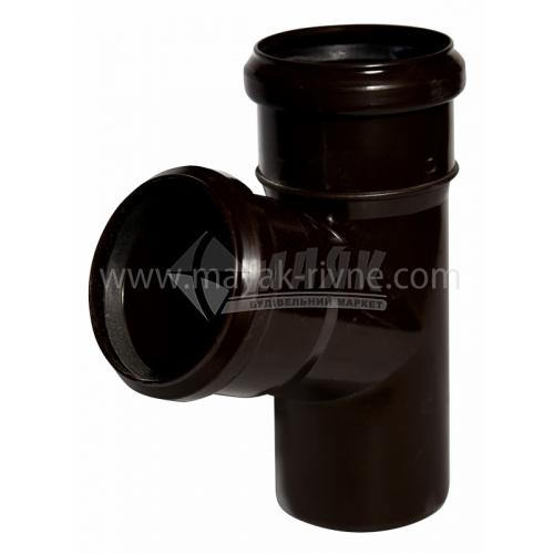 Трійник пластиковий Profil 75/75 мм 67° 90/75 коричневий