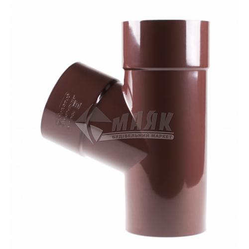 Трійник пластиковий редукційний Profil 100/75 мм 67° 90/75 коричневий