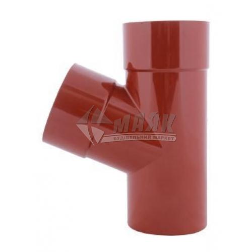 Трійник пластиковий редукційний Profil 100/75/60 мм 90/75 цегляний