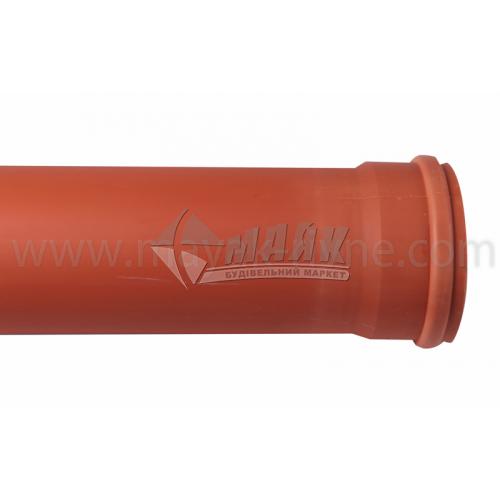 Труба ПВХ зовнішня каналізація Інсталпласт 110×3,2×2000 мм