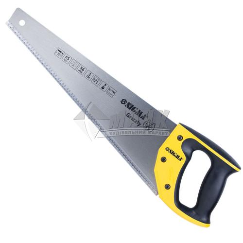 Ножівка по дереву SIGMA Grizzly 3TPI 400 мм пластикова ручка