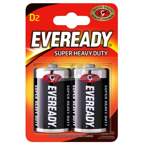 Батарейки EVEREADY D Super Heavy Duty сольові (цинково-вугільні) 2 шт