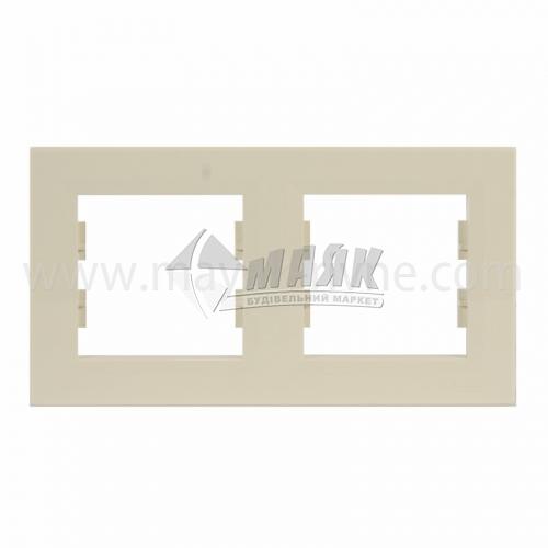 Рамка двомісна горизонтальна Schneider Asfora кремова