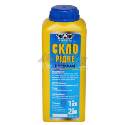 Клей натрієвий (рідке скло) Альянсед 1 л/1,4 кг