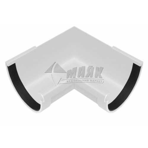 Кут ринви пластиковий внутрішній NewWay 90° 120 мм білий