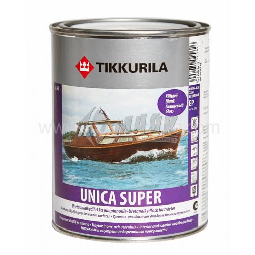 Лак яхтовий Tikkurila Unica Super для внутрішніх та зовнішніх робіт 0,9 л глянцевий