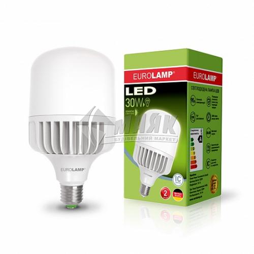 Лампа світлодіодна циліндр EUROLAMP 30Вт Е27 HP 6500°К (LED-HP-30276)