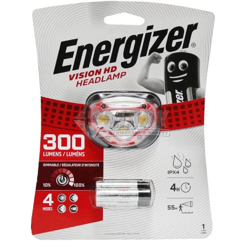 Ліхтар налобний на батарейках ENERGIZER HL Vision HD 3xAAA tray HDB32