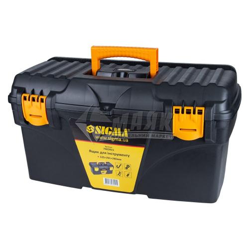 Ящик для інструменту з лотком SIGMA 535×291×280 мм пластиковий