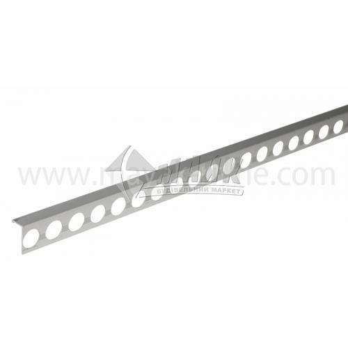 Профіль для плитки алюмінієвий АП10 прямий 2700 мм срібло матове