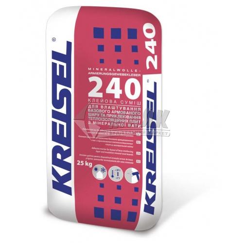 Клей монтажний для мінеральної вати Kreisel 240 25 кг