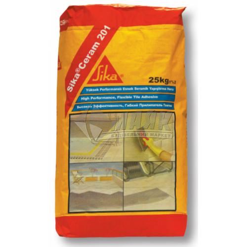 Клей для облицювальної плитки SikaCeram-201 25 кг