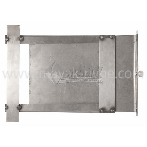 Шибер (заслонка) нержавіюча сталь 300×200 мм 1,1 кг