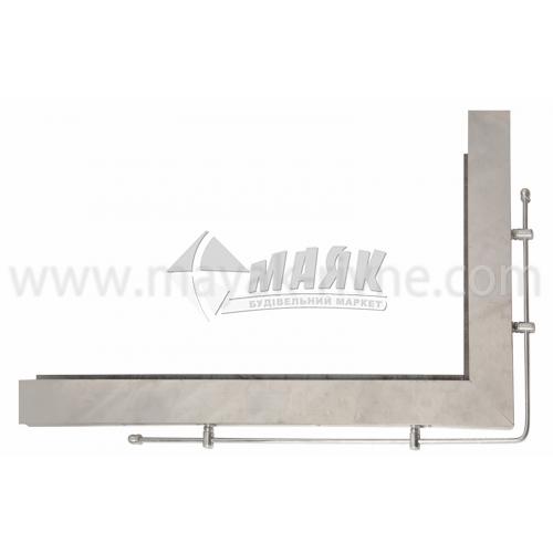 Кутник для плити нержавіюча сталь правий 800×500 мм 4,17 кг