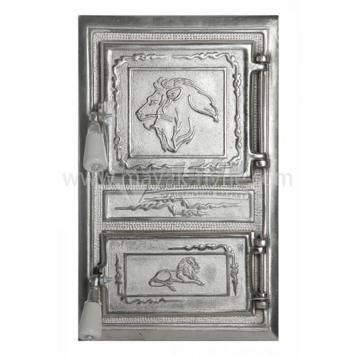 Дверцята спарені декоративні Лев Прямокутник 340×550 мм 11,0 кг