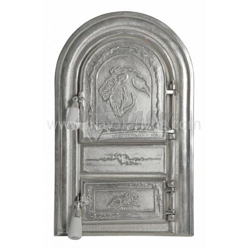 Дверцята спарені декоративні Арка Лев 340×550 мм 13,2 кг