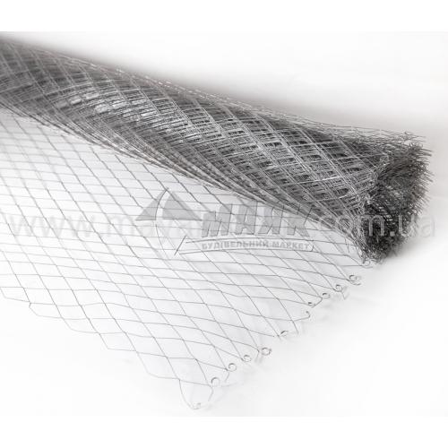 Сітка штукатурна просічно-витяжна 0,55×25×50 мм 1×10 м оцинкована