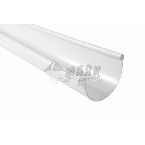 Дощоприймач з боковим зливом пластиковий Profil 90/75-130/100 білий