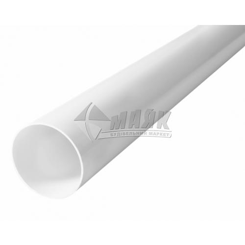 Труба водостічна пластикова Profil 75 мм 3 м 90/75 біла