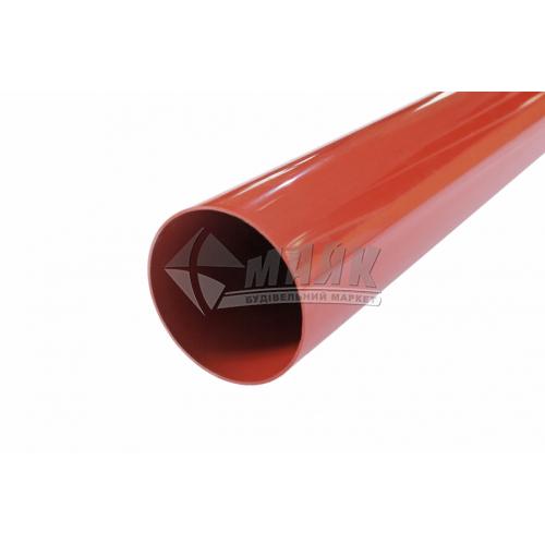 Труба водостічна пластикова Profil 75 мм 3 м 90/75 цегляна