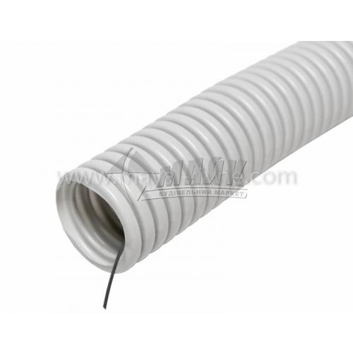 Трубка гофрована ізоляційна до ел.проводки IEK пластикова 20 мм