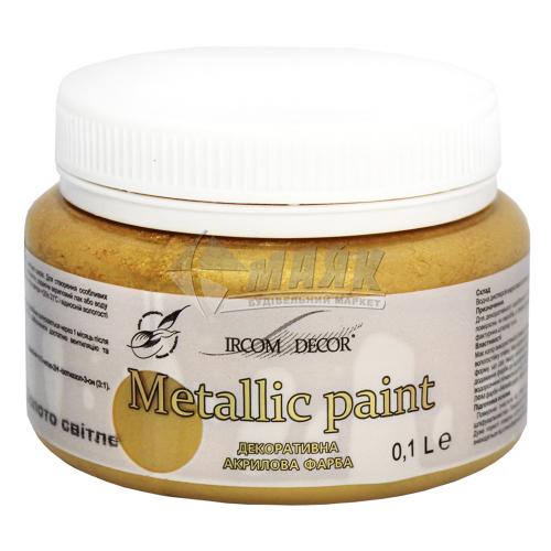 Фарба декоративна Ірком 0,1 л золото