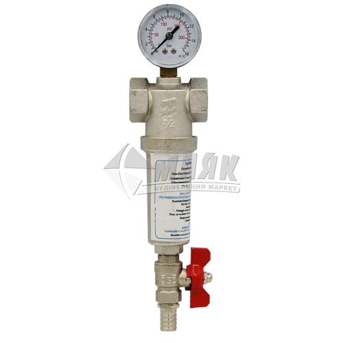 """Фільтр водяний з манометром Santan RBM 3/4"""" самоочисний"""