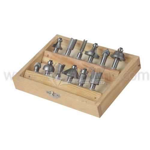 Набір фігурних фрез для деревини 8 мм 12 шт