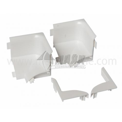 Фурнітура до профіля для ванни TIS ПОВ-04 2 кути внутрішні+заглушка ліва+заглушка права біла