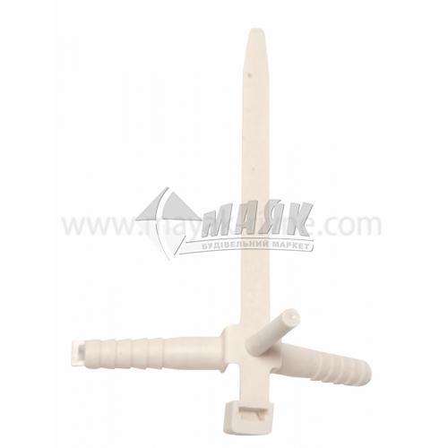 Хомут кабельний (стяжка) 7×90 мм з дюбелем 8×35 мм