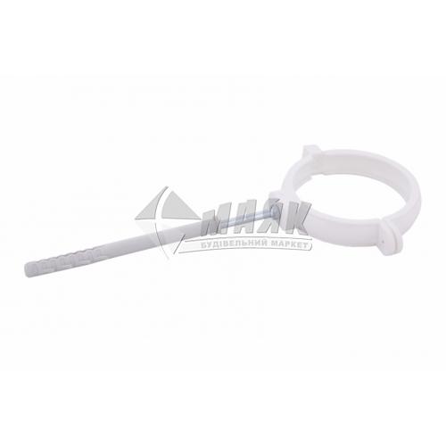 Хомут труби пластиковий Profil 100 мм 90/75 білий