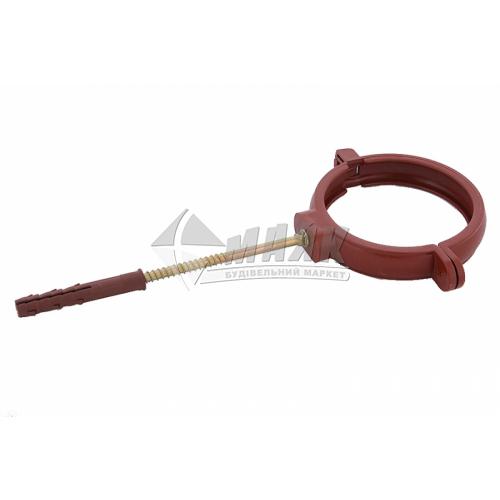 Хомут труби пластиковий Profil 100 мм 90/75 цегляний