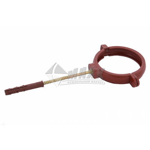 Хомут труби пластиковий Profil 160 мм 130/100 цегляний
